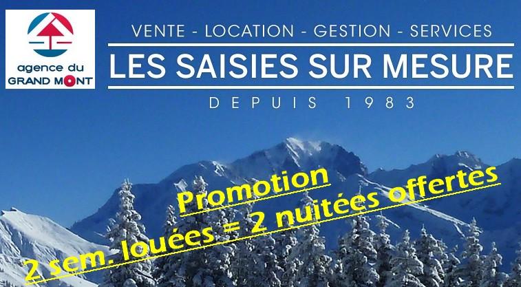 Promotion Les Saisies 2 sem. louées = 2 nuitées offertes